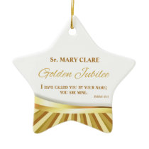 Personalize, Golden Jubilee of Religious Life, Ceramic Ornament