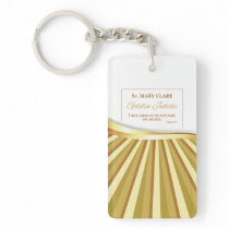 Personalize, Golden Jubilee of Religious Life Keychain