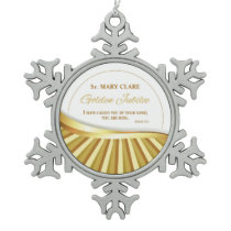Personalize, Golden Jubilee of Religious Life, Snowflake Pewter Christmas Ornament
