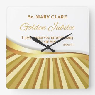Personalize, Golden Jubilee of Religious Life Square Wall Clock