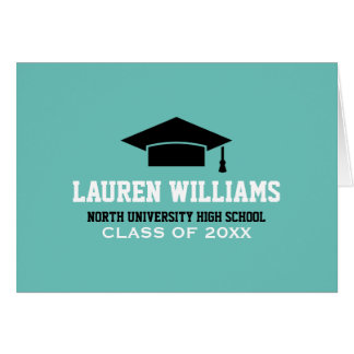 Personalize Graduation Note Cards   Grad Cap