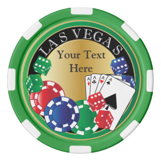 Personalize Green Poker Night Set Of Poker Chips