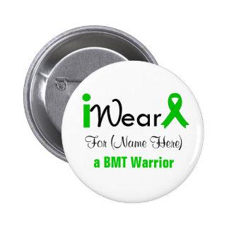 Personalize Green Ribbon Bone Marrow Transplant Button
