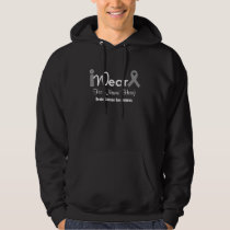 Personalize Grey Ribbon Brain Cancer Hoodie