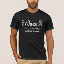 Personalize Grey Ribbon Brain Cancer T-Shirt