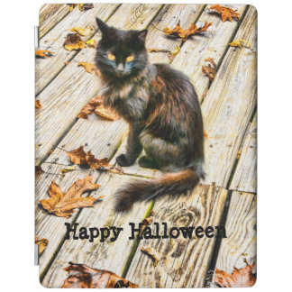Personalize: Halloween Black Cat Photograph iPad Smart Cover
