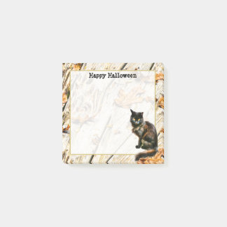 Personalize: Halloween Black Cat Photography Post-it Notes