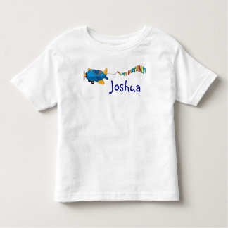 Personalize Happy Birthday Airplane and Banner Toddler T-shirt