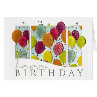 Personalize Happy Birthday Balloons Cards