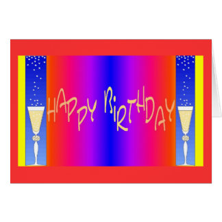 Personalize Happy Birthday Blank Card