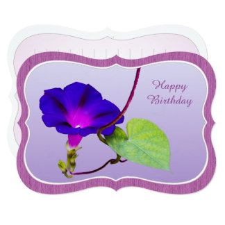"""Personalize: """"Happy Birthday"""" Morning Glory Card"""