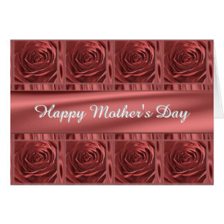 """Personalize """"Happy Mother's Day"""" Marsala Roses Card"""