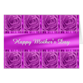 """Personalize """"Happy Mother's Day"""" Orchid Roses Card"""