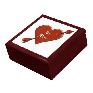 (Personalize) Heart & Arrow Happy Valentine's Day Jewelry Box