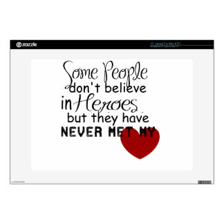 """Personalize Hero Gift 15"""" Laptop Decal"""