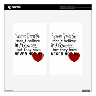 Personalize Hero Gift Decal For Kindle Fire