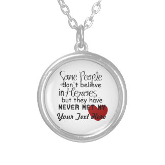 Personalize Hero Gift Silver Plated Necklace