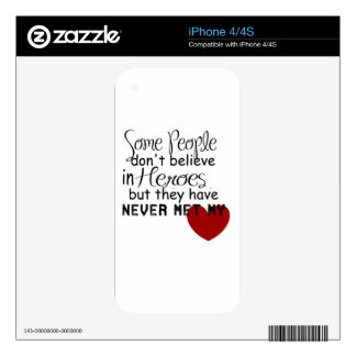 Personalize Hero Gift Skin For The iPhone 4