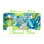 Personalize Hipsters Thank You Wedding Cards Business Card Templates