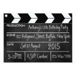 Personalize Hollywood Movie Theme Party Chalkboard 5x7 Paper Invitation Card