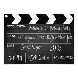 Hollywood Theme Invitations Zazzle