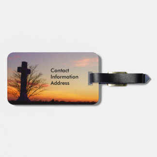 (Personalize) Holy Cross at Sunset Bag Tag