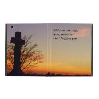 (Personalize) Holy Cross at Sunset iPad Folio Case