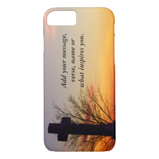 (Personalize) Holy Cross at Sunset iPhone 7 Case