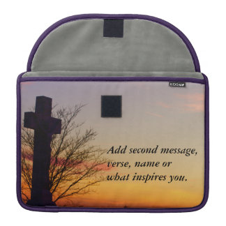(Personalize) Holy Cross at Sunset Sleeve For MacBook Pro