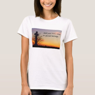 (Personalize) Holy Cross at Sunset T-Shirt
