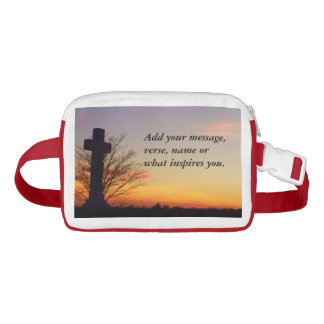 (Personalize) Holy Cross at Sunset Waist Bag