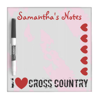 PERSONALIZE I Heart Cross Country - I Love CC Dry-Erase Board