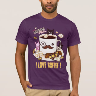 Personalize I love coffee shirt