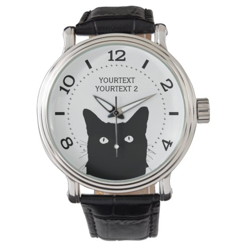 Personalize I See Cat Click Pick Your Color Dial Wrist Watch