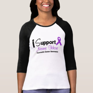 Personalize I Support Pancreatic Cancer Awareness T-shirt