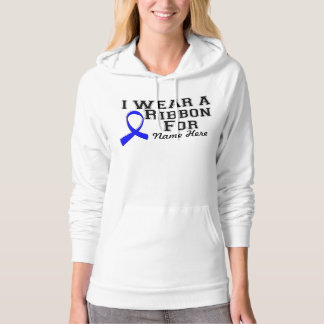 Personalize I Wear a Blue Ribbon Pullover