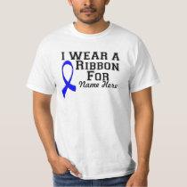 Personalize I Wear a Blue Ribbon T-Shirt