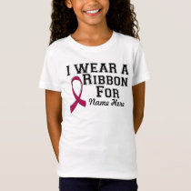 Personalize I Wear a Burgundy Ribbon T-Shirt