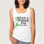 Personalize I Wear a Green Ribbon Basic Tank Top