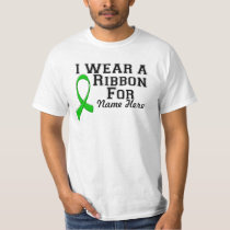 Personalize I Wear a Green Ribbon T-Shirt