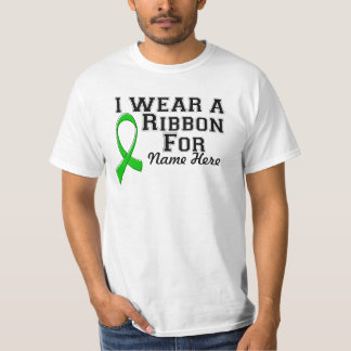 Personalize I Wear a Green Ribbon T-shirt