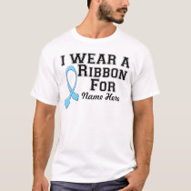 Personalize I Wear a Light Blue Ribbon T-Shirt