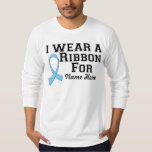 Personalize I Wear a Light Blue Ribbon Tee Shirt