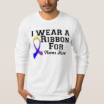 Personalize I Wear a Marigold Blue Purple Ribbon T-Shirt
