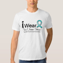 Personalize I Wear a Tourette Syndrome Ribbon T-Shirt