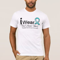 Personalize I Wear a Tourette Syndrome Ribbon T-Shirt