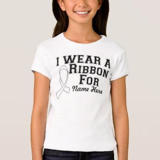 Personalize I Wear a White Ribbon T-Shirt
