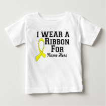 Personalize I Wear a Yellow Ribbon Baby T-Shirt