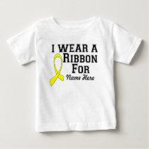 Personalize I Wear a Yellow Ribbon Baby T-Shirt