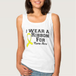 Personalize I Wear a Yellow Ribbon Basic Tank Top